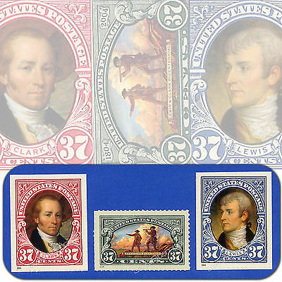 2004   LEWIS & CLARK EXPEDITION  Complete SET of 3  MINT 37¢  3854 3855 3856