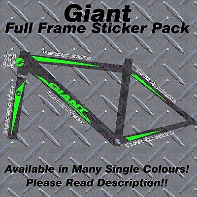 GIANT Full frame Sticker Kit, protectors, Custom, MBK, Bike, Mountain,Road,cycle