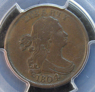 1804 Half Cent PCGS VF30 Spiked Chin (283)