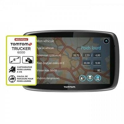 TOMTOM GPS Camion TRUCKER 6000 (6 pouces) Europe 48 Cartographie a Vie