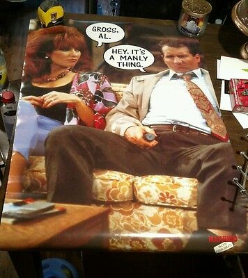 Married With Children Original 1980's Poster New Condition BEAUTY
