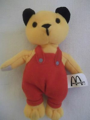 Soft McDonald's Sooty in red dungarees 15cm tall