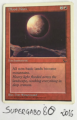 MTG MAGIC - Blood Moon - Luna Insanguinata - Inglese Chronicles MINT - 1995