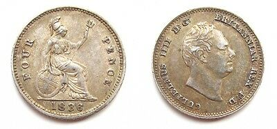 William Iv 1836 Silver Groat / Fourpence - Higher Grade