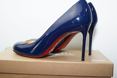 Christian Louboutin Fifi 85 Patent Calf High Heel Shoes Size 37 / Uk 4