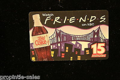 DIET COKE ~ NBC  FRIENDS ~ Coca Cola 15 min. Phone Card ~ Unused