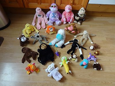 Bundle Of 24 Plush Soft MONKEYS 10.5 inches High max - inc. WHO'S THE DADDY ?