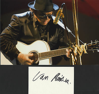 Van Morrison - Legendary Irish Singer - I/P Signed Card  With Photograph.