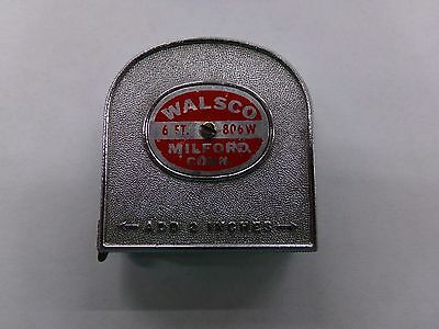 Vintage Walsco 6 Foot Tape Measure Milford, Connecticut ~ Made in USA