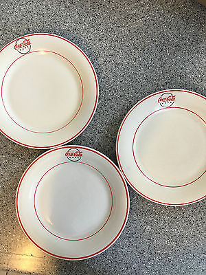 Coca-Cola CAFE Dinner Plate by Gibson 2001 Set of 3