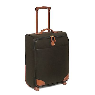 £350 Bric's Brics Life Cabin Carry On Hand Luggage Trolley Suitcase Leather