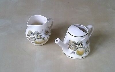 Vintage Brixham Pottery Milk Jug and Watering Can - Excellent