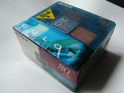"Sony Color Mix  -  Minidisc  -  5MDW80CRXSPE -""SA Coating"" - NEU in OVP - Sealed"