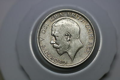 Uk Gb Half Crown 1919 Silver Nice Details A60 #z9317