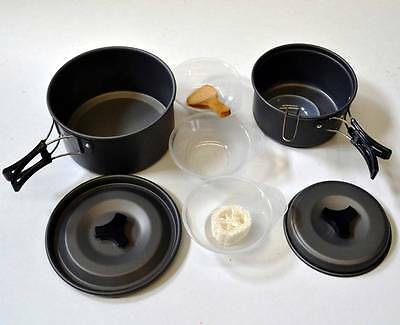 New 8 in1 Outdoor Camping Hiking Cooking Pot Utensils Set  (DS-300)