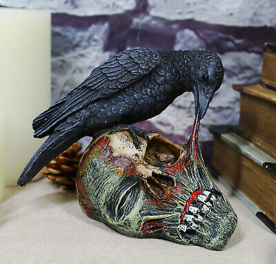 Istatue Collectibles T Virus Infected Raven Crow Feeding on Zombie Flesh Dec...