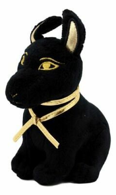 Egyptian Smaller Black and Gold Anubis Jackal Dog Egyptian Stuffed Plush Doll...