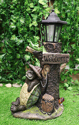 Other Collectible Lighting Collectibles Climbing Black Bear Solar Led Light Lantern Lamp Welcome Figurine Decorative