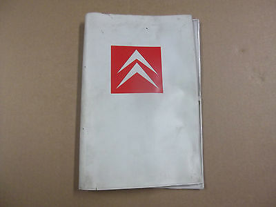 Owner pack cover(original) for Citroen 2cv models .950+Citroen parts in SHOP