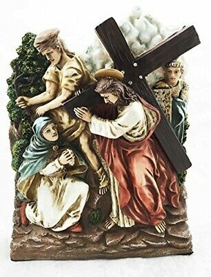 Stations Of The Cross Fourth: Jesus Meets Sorrowful Mother Mary Sculpture