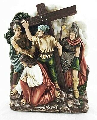 Stations Of The Cross Fifth: Simon Of Cyrene Carries Jesus Cross Sculpture