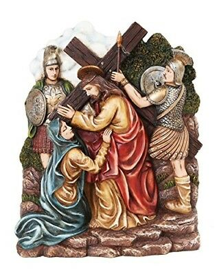 9.25 Inch Stations of The Cross Christ with Mary Statue Figurine