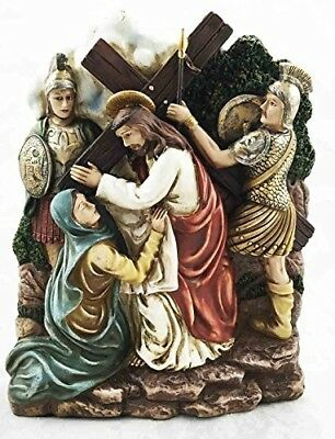 Stations Of The Cross Sixth: Veronica Wipes Jesus Wounded Face Sculpture