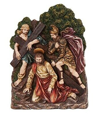 9.25 Inch Stations of The Cross Christ with Soldiers Statue Figurine