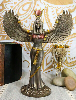 11.88 Inch Egyptian Isis Mythological Bronze Finish Statue Figurine