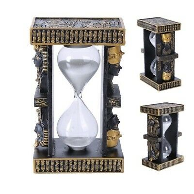 5 Inches Ancient Egyptian Pharaoh King and Queen Sandtimer statue