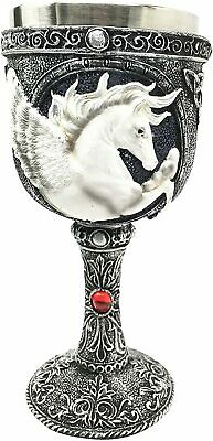 Magical Enchanted Heavenly Kingdom Pegasus Horse 8oz Wine Drink Goblet Chalice