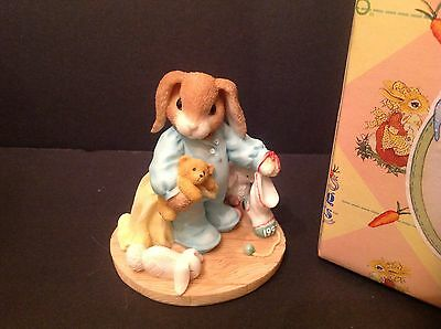 """My Blushing Bunnies Figurine """"You're Some Bunny Warm and Cuddly"""""""