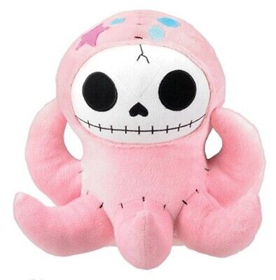SS-Y-1125 Pink Octopus Octopee Furry Bones Collectible Stuffed Plush Doll