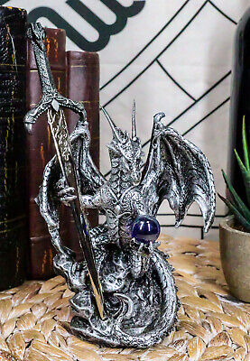 "Silver Dragon Collection with Sword Collectible Letter Opener 6.25"" Tall"