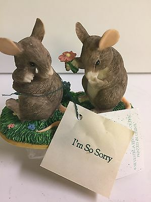 Charming Tails I'm Sorry 97720 Signed by Dean Griff NIB