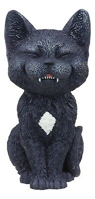 Black Laughing Kitty Cat Teehee Themed Decorative Figurine Statue