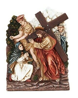 9.25 Inch Stations of The Cross Jesus Carrying Cross Statue Figurine