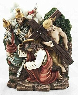 Stations Of The Cross Seventh: Jesus Falls The Second Time Sculpture Figurine