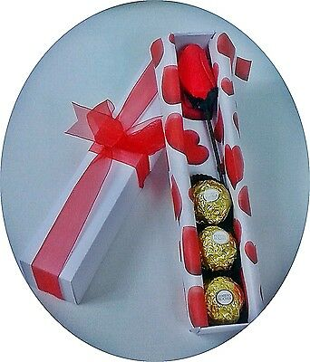 Valentines Gift - Rose and Chocolates - Gift Boxed