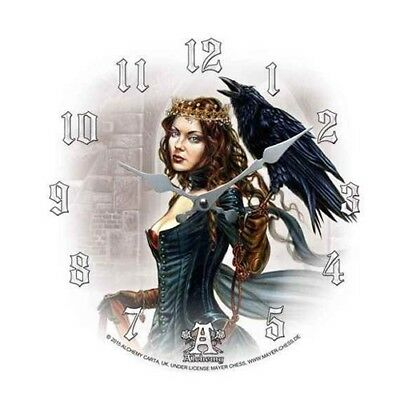 """Bride Of The Moon Dragon Wall Clock Alchemy Gothic 13.5/""""D Fantasy Collectible"""