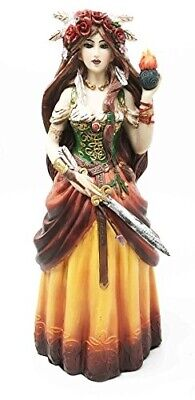 Celtic Irish Goddess Brigid Threefold Deity of Heling Poetry Smithcraft Figurine