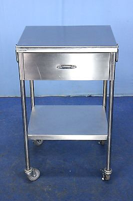 Shampaine Stainless Medical Cart Medical Instrument Procedure Table - Warranty
