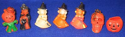 Lot 7 Vtg Gurley Halloween Candles JOL Witch Owl
