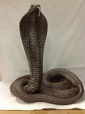 NEW WildLife KING COBRA Statue Figures Sculpture Bronze Ship Immediately !!!