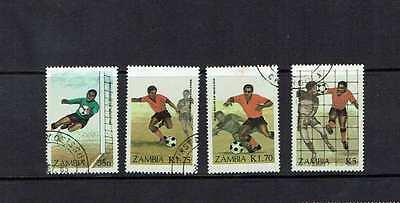 Zambia: 1986:Football World Cup, Mexico, fine used set