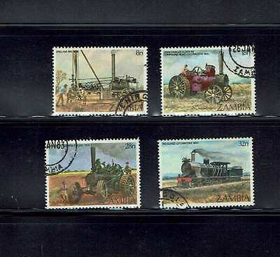 Zambia: 1983: Early Steam Engines, fine used set