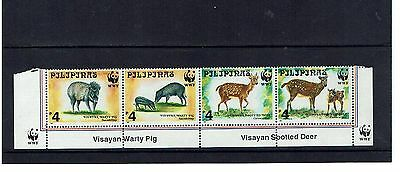 Philippines: 1997 Endangered Animals, Warty Pig, Spotted Deer, MNH set