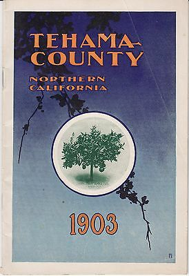 1903 Tehama County California Land Promotional Pamphlet Color Red Bluff
