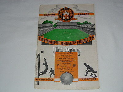 1955-56 WOLVERHAMPTON WANDERERS v WEST BROMWICH ALBION F A Cup 3rd round
