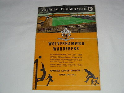 1961-62 WOLVES v INTERNATIONAL XI Billy Wright -Jimmy Mullen Benefit Autographed